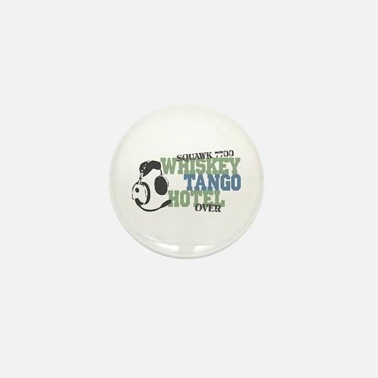 Aviation Whiskey Tango Hotel Mini Button