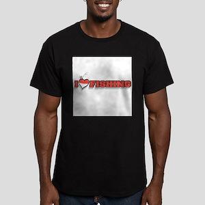 I love Fishing Men's Fitted T-Shirt (dark)