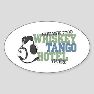 Aviation Whiskey Tango Hotel Sticker (Oval)