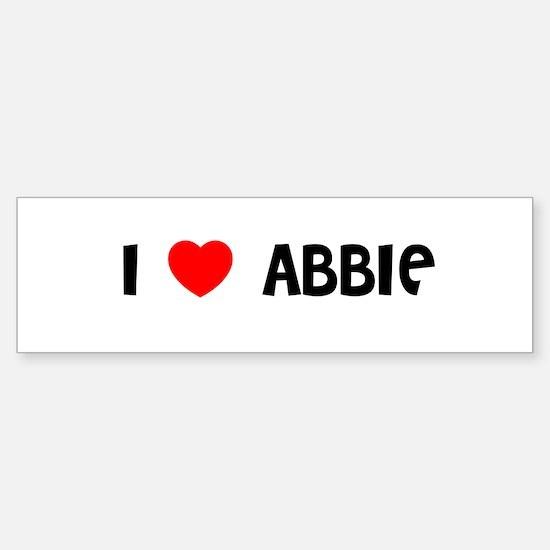 I LOVE ABBIE Bumper Car Car Sticker