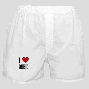 I LOVE ABBIE Boxer Shorts