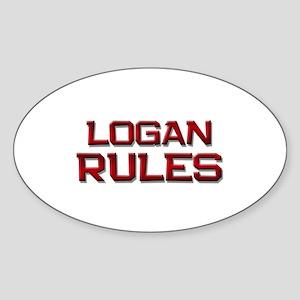 logan rules Oval Sticker