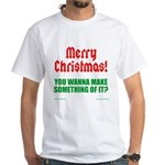 Christmas Attitude White T-Shirt