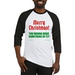 Christmas Attitude Baseball Jersey