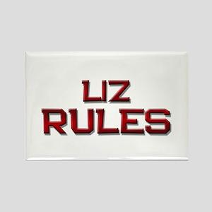 liz rules Rectangle Magnet