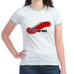 Just Tap Out ringer shirts for women