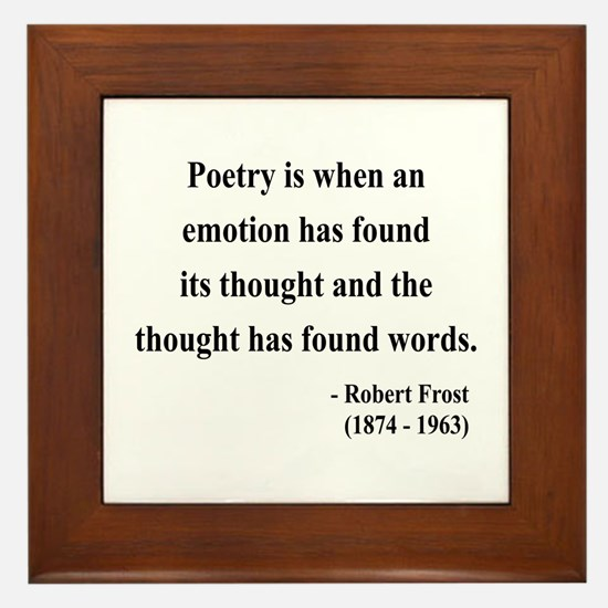 Robert Frost 13 Framed Tile
