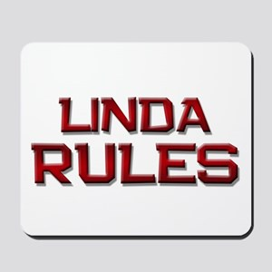 linda rules Mousepad