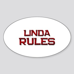 linda rules Oval Sticker