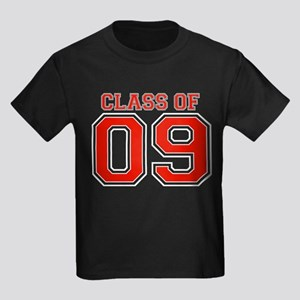 Class Of 09 (Red Varsity) Kids Dark T-Shirt