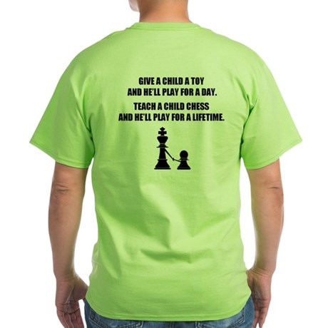 Teach a Child Chess (Green T-Shirt)
