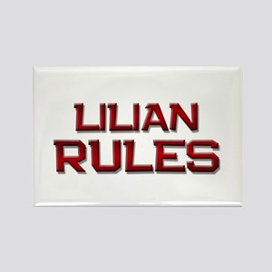 lilian rules Rectangle Magnet