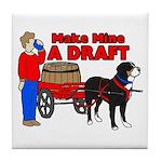 Greater Swiss Mtn Dog - Draft Tile Coaster