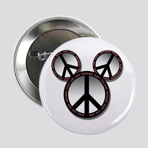 "Peace love hope black 2.25"" Button (10 pack)"