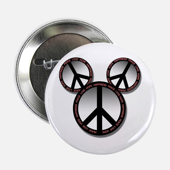 """Peace love hope black 2.25"""" Button (10 pack)"""