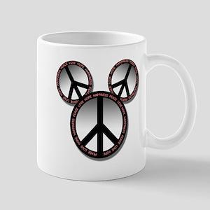 Peace love hope black Mug