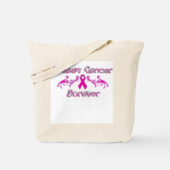 Pink Tribal Angel Wings Tote Bag