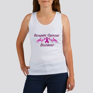 Pink Tribal Angel Wings Women's Tank Top
