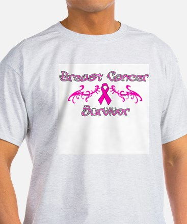 Pink Tribal Angel Wings T-Shirt