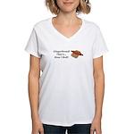 Gingerbread How I Roll Women's V-Neck T-Shirt
