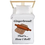 Gingerbread How I Roll Twin Duvet Cover