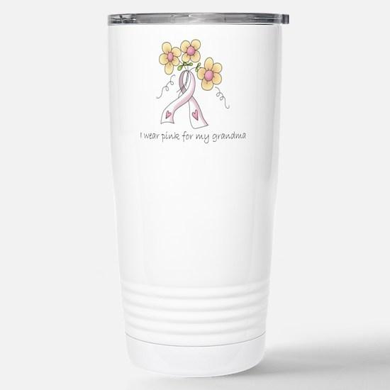 Pink For Grandma Stainless Steel Travel Mug