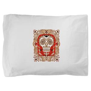 Skull in Frame Pillow Sham