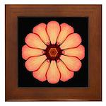 Orange-Red Zinnia I Framed Tile