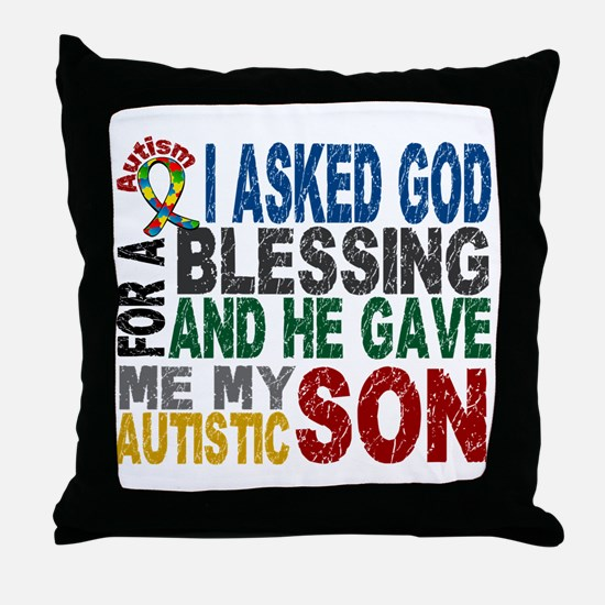 Blessing 5 Autistic Son Throw Pillow