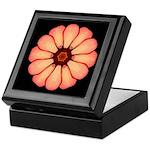 Orange-Red Zinnia I Keepsake Box