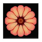 Orange-Red Zinnia I Tile Coaster