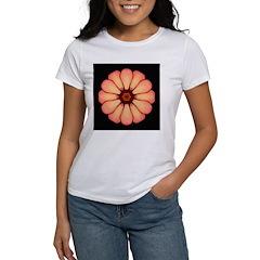 Orange-Red Zinnia I Women's T-Shirt