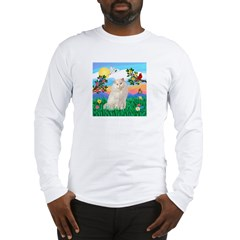 Bright Life / White Persian Long Sleeve T-Shirt