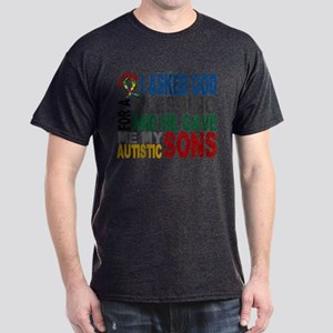 Blessing 5 Autistic Sons Dark T-Shirt