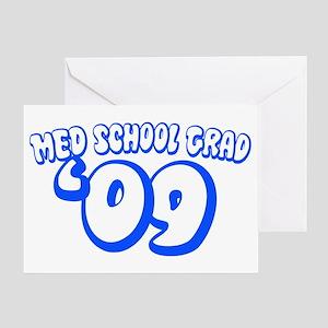Med School Grad 09 (Blue Bubble) Greeting Card