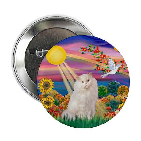 "AutumnSun/White Persian Cat 2.25"" Button (10 pack)"