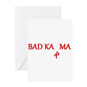 Bad karma greeting cards cafepress m4hsunfo