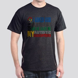 Blessing 5 Autistic Daughters Dark T-Shirt
