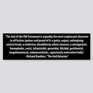Richard Dawkins quote bumper sticker