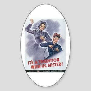 Women WII Oval Sticker