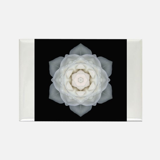 White Rose I Rectangle Magnet