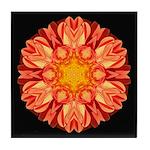 Orange Dahlia II Tile Coaster