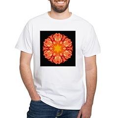Orange Dahlia II White T-Shirt