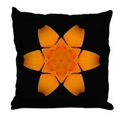 Orange Daylily I Throw Pillow