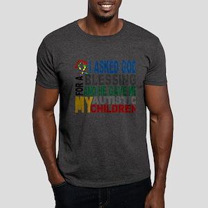 Blessing 5 Autistic Children Dark T-Shirt