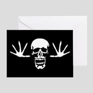Taunting Skull Greeting Card