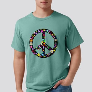 Hippie Flowery Peace Sign T-Shirt