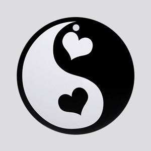 Heart Yin Yang Ornament (Round)