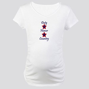 Duty, Honor, Country (1) Maternity T-Shirt