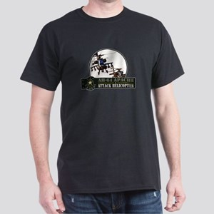 AH-64 Apache Helicopter Dark T-Shirt